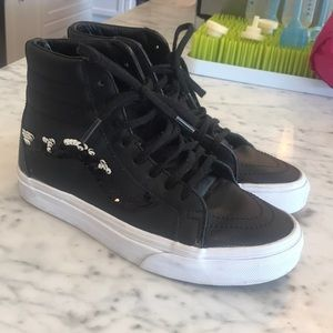 VANS HIGH TOPS WITH SPARKLES